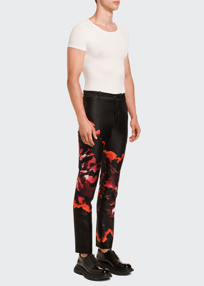 Men's Tie-Dye Satin Trousers
