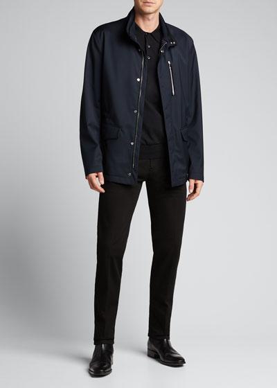 Men's 5-Pocket Dark-Wash Jeans