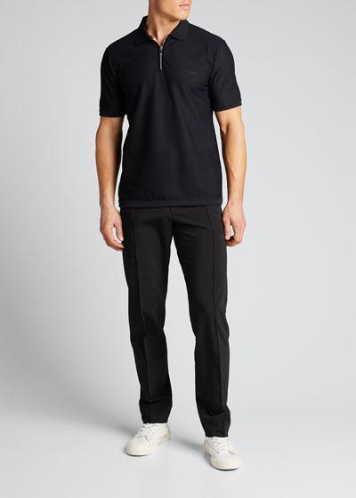 Men's Tech Jersey Quarter-Zip Polo Shirt