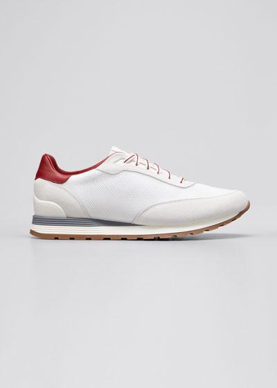 Men's Mixed Media Runner Sneakers