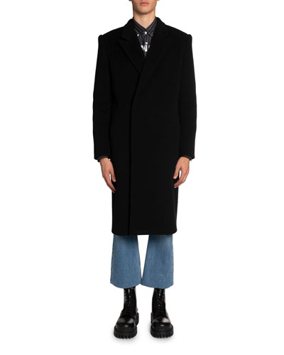 Men's Brushed Felted Wool Slim Coat