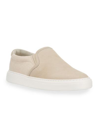 Men's Suede Slip-On Sneakers