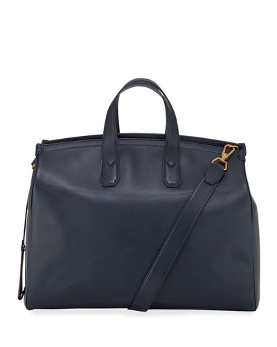 Men's Duke Leather Weekender Bag