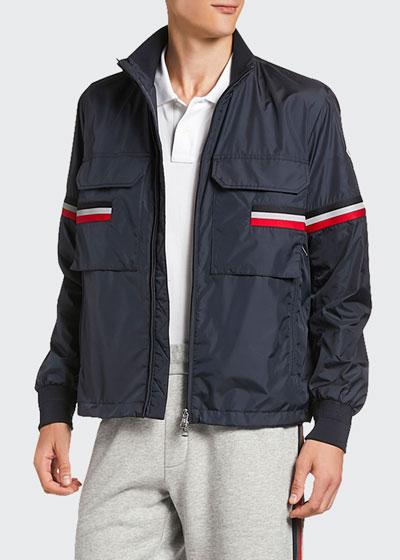 Men's Seine Reflective Flag Zip-Front Jacket