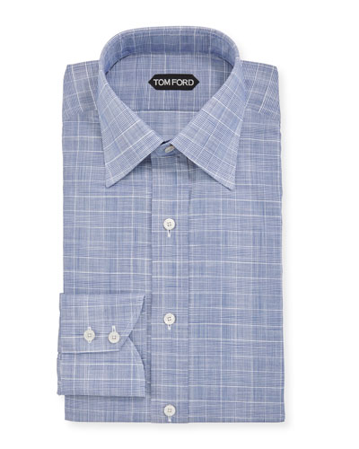 Men's Sophisticated Prince of Wales Dress Shirt
