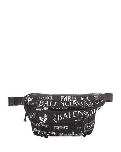 Men's Allover Logo Belt Bag