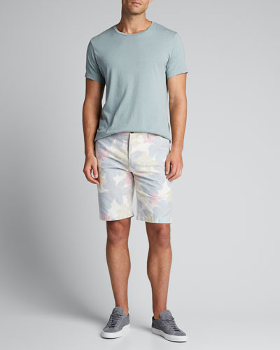 Men's Floral-Print Chino Shorts
