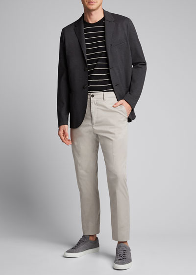 x B Shop Men's Atelier Flat-Front Cropped Pants