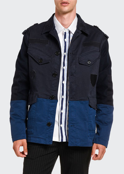 Men's Pieced Military Cotton Jacket