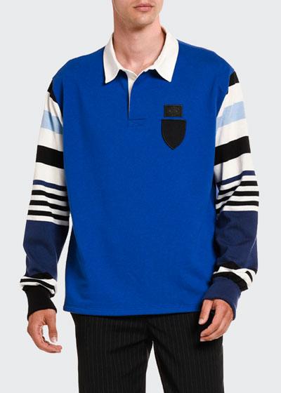 Men's Stripe-Trim Rugby Shirt