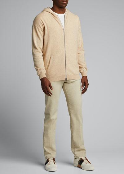 Men's Cashmere Zip-Front Cardigan
