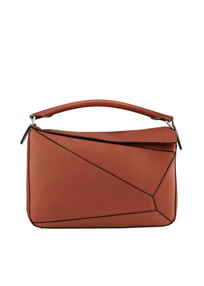 Men's Puzzle Leather Crossbody/Shoulder Bag