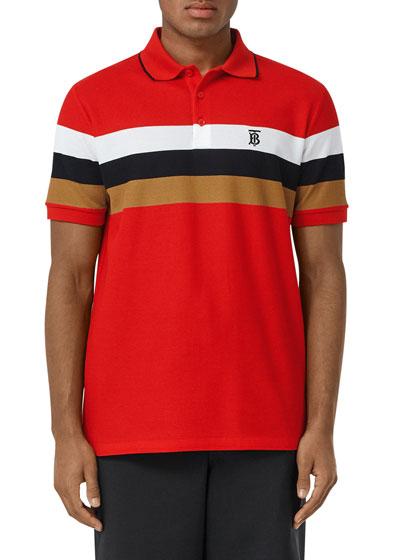 Men's TB Stripe Polo Shirt