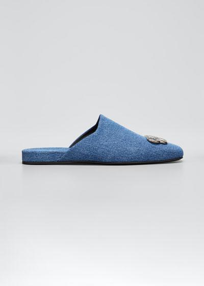 Men's Cosy BB Denim Mule Slippers