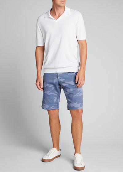 Men's Sky Camo-Print Bermuda Shorts