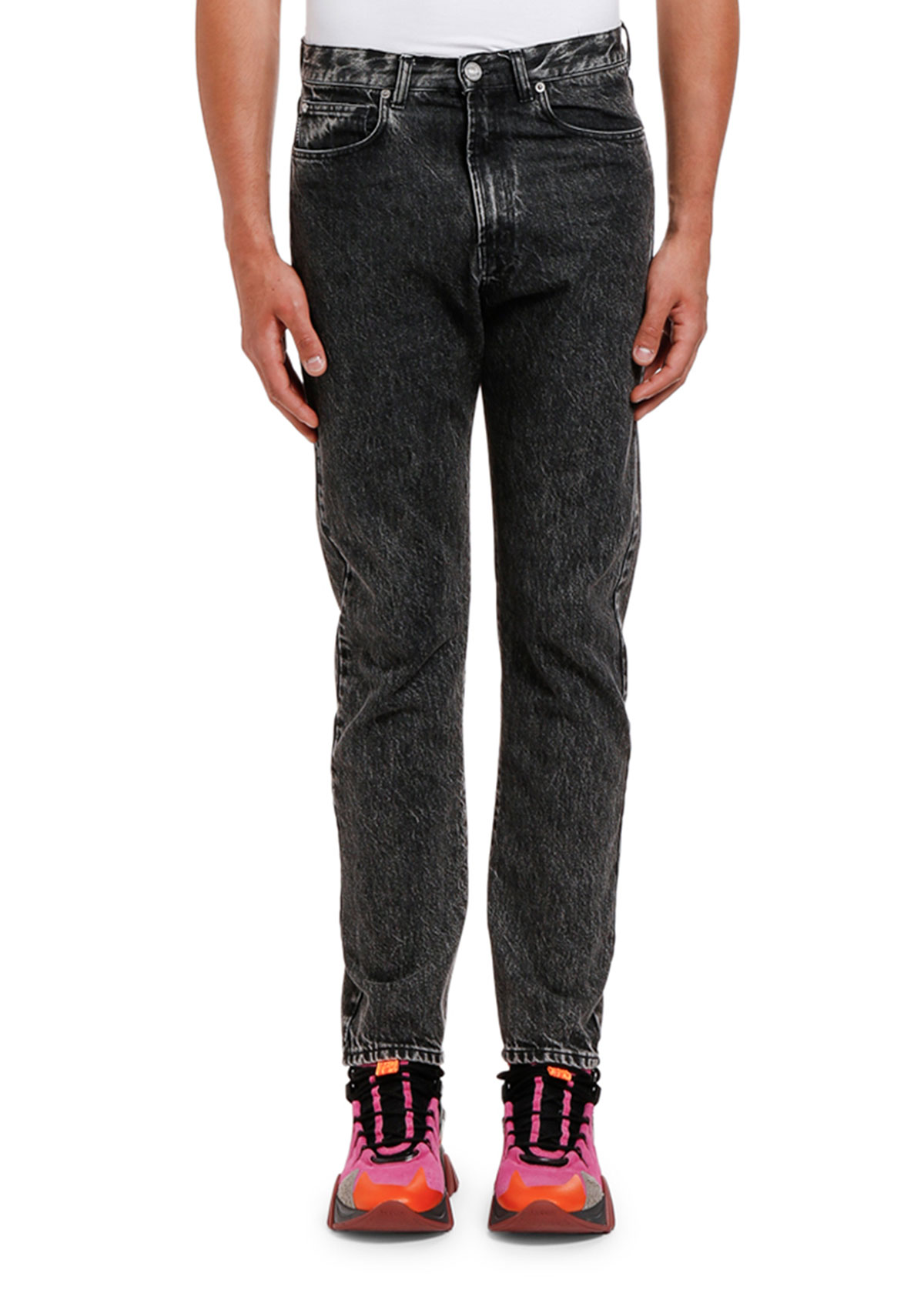 Versace MEN'S RELAXED WASHED DENIM JEANS