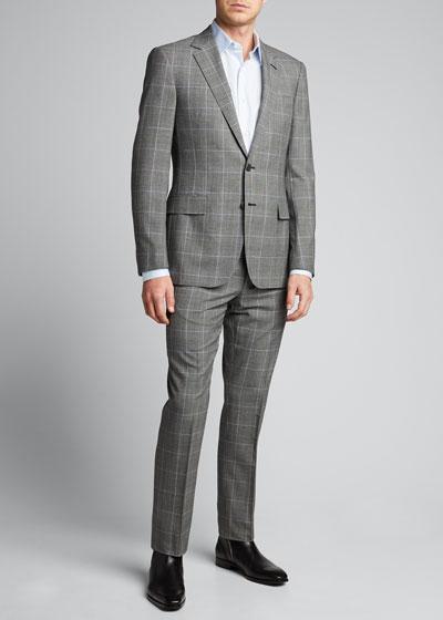 Men's Check Two-Piece Suit