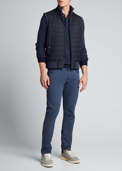 Men's Quilted Reversible Zip-Front Vest