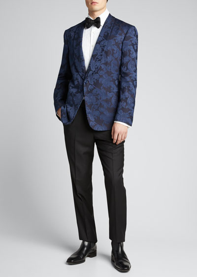 Men's Silk Jacquard Dinner Jacket