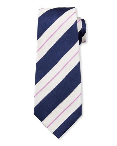 Large Stripe Silk Tie