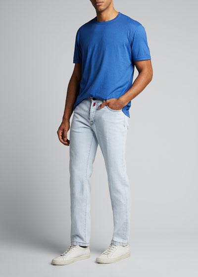 Men's Crewneck Solid Cotton/Cashmere T-Shirt