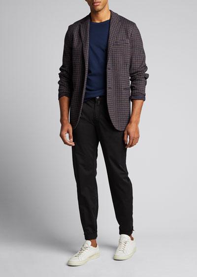 Men's Solid Crewneck Cotton/Cashmere T-Shirt