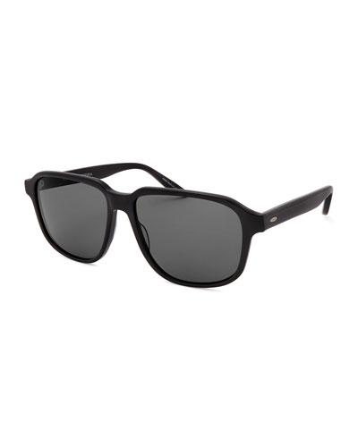 Men's Rectangle Acetate Polarized Sunglasses