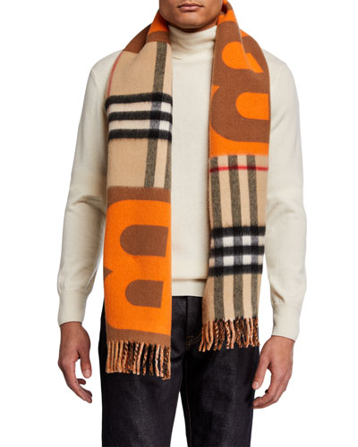Men's TB Diamonto Giant Check Scarf
