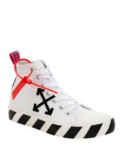 Men's Arrow Mid-Top Canvas Sneaker w/ Stripes