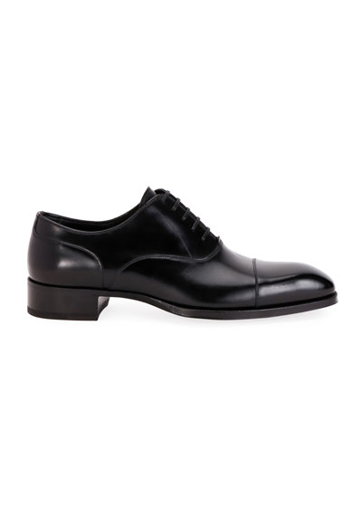 Men's Formal Leather Cap-Toe Oxford Shoes