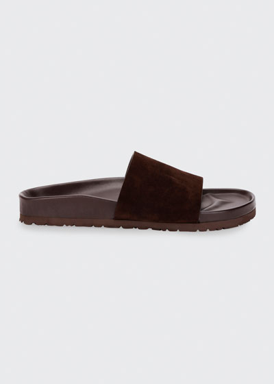 Men's Informal Suede Slide Sandals