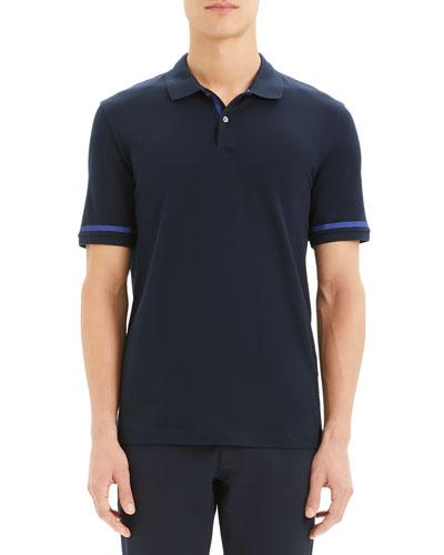 Men's Function Stretch-Cotton Pique Polo Shirt