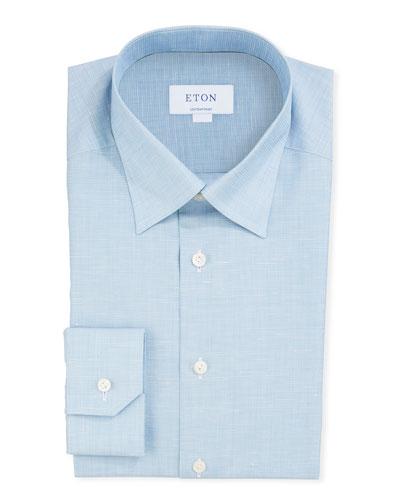 Men's Textured Contemporary Dress Shirt