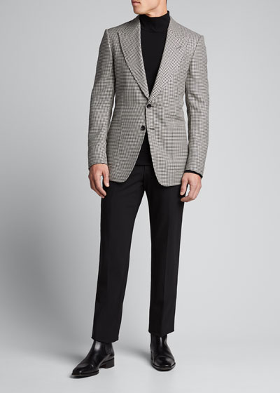 Men's Shelton Tattersall Two-Button Jacket