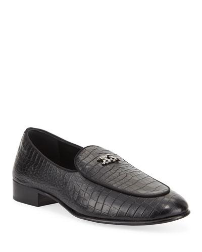 Men's Croc-Embossed Formal Loafers
