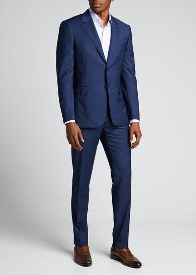 Men's Micro Classic-Fit Two-Piece Suit