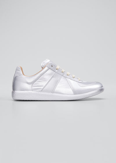 Men's Replica Metallic Low-Top Sneakers