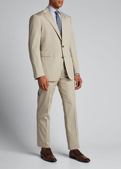 Men's Cotton-Blend Two-Piece Summer Suit