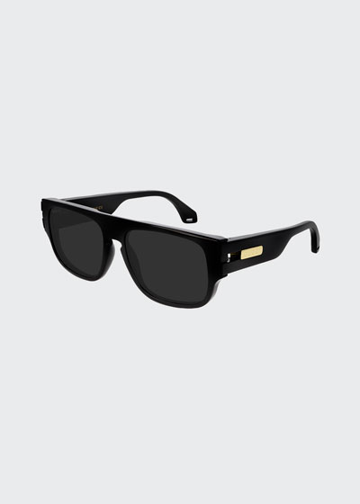 Men's Thick Square Injection Sunglasses