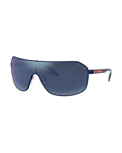 Men's Rimless Metal Sunglasses - Mirrored