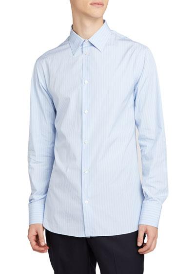 Men's Jasper Striped Point-Collar Sport Shirt