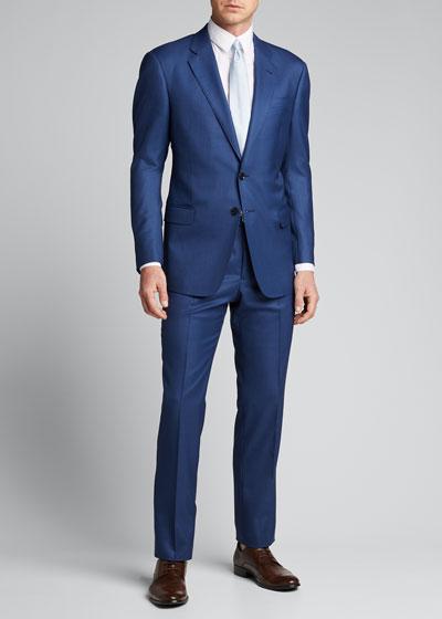 Men's Two-Piece Sharkskin Suit