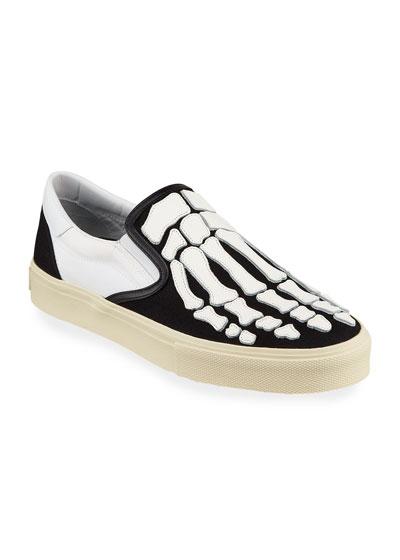 Men's Skeleton Slip-On Sneakers