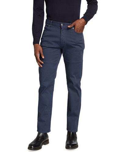 Men's Cropped Canvas 5-Pocket Pants