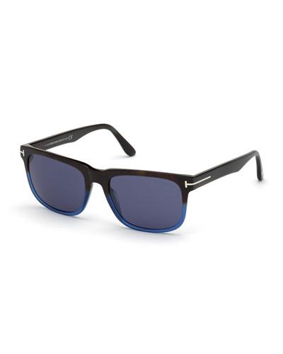Men's Stephenson Square Two-Tone Acetate Sunglasses