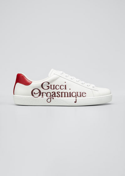 Men's Ace Sneakers with Gucci Orgasmique