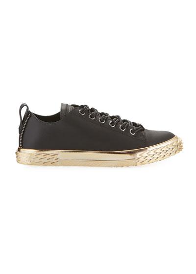 Men's Blabber Leather Sneakers w/ Metallic Sole