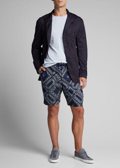 Men's Bandana-Print Drawstring Shorts