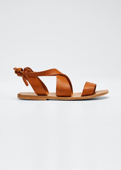 Men's Positano Strappy Leather Flat Sandals