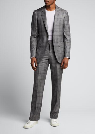 Men's Damien Single-Button Plaid Jacket